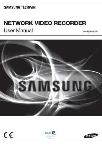 Samsung SRN-470D User Manual - Use-IP