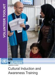 Cultural induction and awareness training - United Nations Volunteers