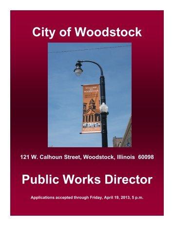 City of Woodstock Public Works Director - City of Woodstock, Illinois