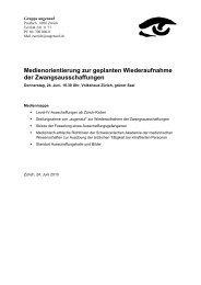 Medienorientierung zur geplanten Wiederaufnahme - Humanrights.ch