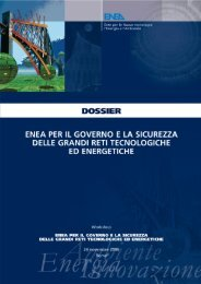 Dossier ENEA per il governo e la sicurezza delle grandi reti ...