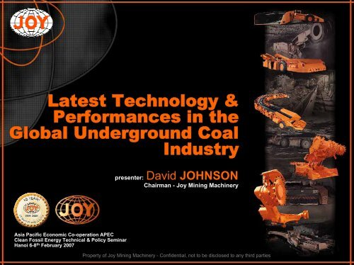 Latest Technology and Performances in the Global Underground ...