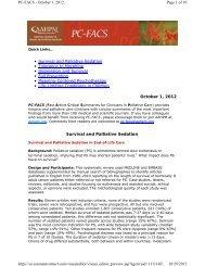 Survival and Palliative Sedation • Tolerance to Morphine ...