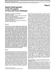 Spatial Heterogeneity in the Perception of Face and ... - CNS Classes
