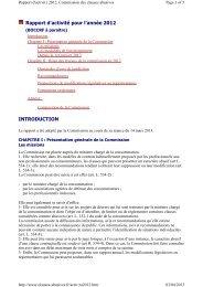 Rapport 2012 de la Commission des clauses abusives - LexisNexis