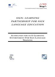 SIGN: LEARNING PARTNERSHIP FOR SIGN LANGUAGE ...