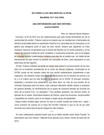 Una historiadora que hizo historia - Manuel Olimón Nolasco