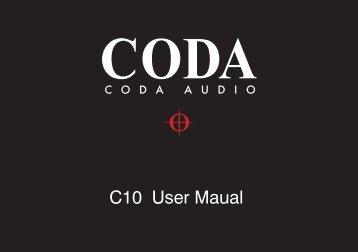 C10 User Maual - Coda Audio