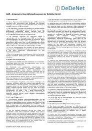 AGB - Allgemeine Geschäftsbedingungen der DeDeNet GmbH.