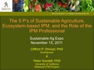 The 5 P's of Sustainable Agriculture, Ecosystem-based IPM, and the ...
