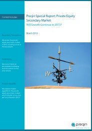 Preqin Special Report: Private Equity Secondary Market