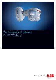 Broschüre Busch-Wächter - ABB Schweiz AG, Industrie- und ...