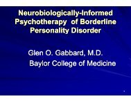 Neurobiologically-informed Psychotherapy of Borderline Personality ...