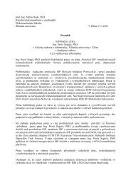 prof. Ing. Milan Dado, PhD. Katedra ... - Žilinská univerzita