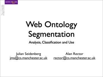 Analysis, Classification and Use Julian Seidenberg jms ... - WWW2006