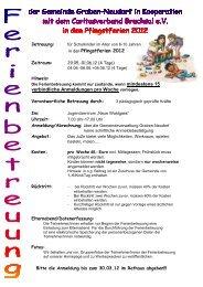 in den Pfingstferien 2012 verbindliche Anmeldungen pro Woche ...