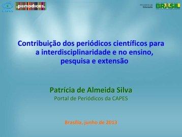 Contribuição dos periódicos científicos para ... - Propesp