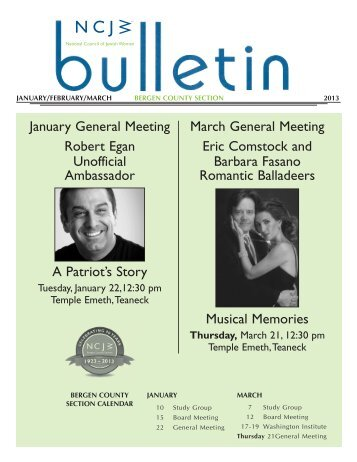 Jan/Feb/Mar Bulletin - ncjwbcs