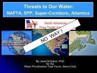 NAFTA SUPER CORRIDORS - Sierra Club