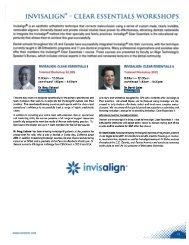 Invisalign Workshops - Toronto Academy of Dentistry