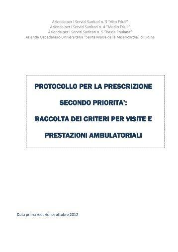 raccolta dei criteri per - Medio Friuli