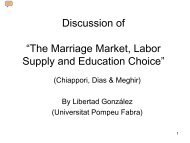 "Discussion of ""The Marriage Market, Labor Supply and ... - MOVE"