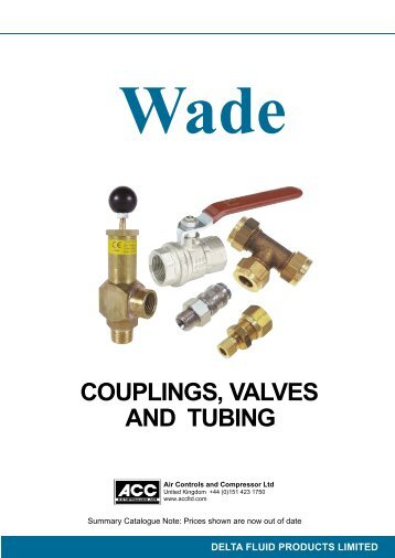 couplings, valves and tubing - Air controls and compressors ltd