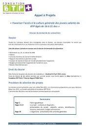 Appel à Projets - Inffolor