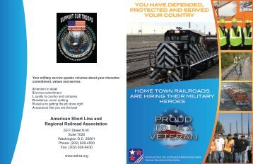 Brochure Front & Back Email - American Short Line & Regional ...