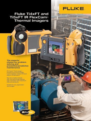 Fluke Ti4xFT and Ti5xFT IR FlexCam® Thermal Imagers