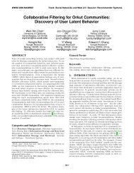 Collaborative Filtering for Orkut Communities ... - WWW 2009