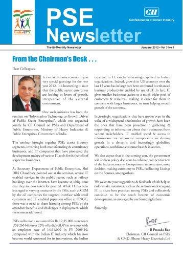 PSE Bi-monthly Newsletter - January, 2012, Vol 3, No. 1 - CII