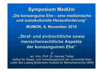 Konsanguine Ehe - Ludwig Boltzmann Institut für Menschenrechte