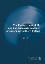 The Management of life and indeterminate sentence prisoners in ...