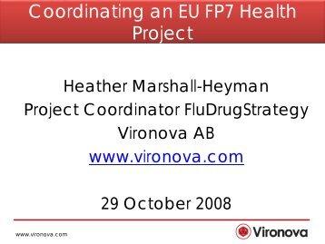 Coordinating an EU FP7 Health Project - Biotekforum