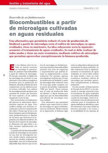 Biocombustibles a partir de microalgas cultivadas en aguas ... - UPC