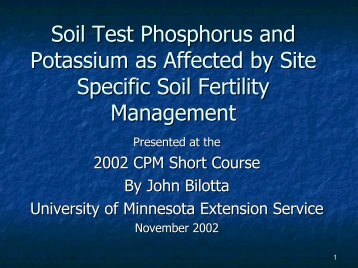 Soil Test Phosphorus and Potassium as Affected by Site Specific ...