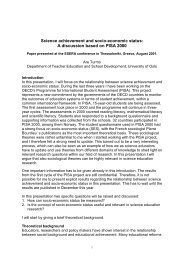 Science achievement and socio-economic status: A ... - Pisa
