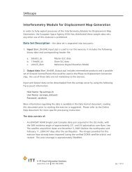 SARscape Interferometry Module for Displacement Map Generation