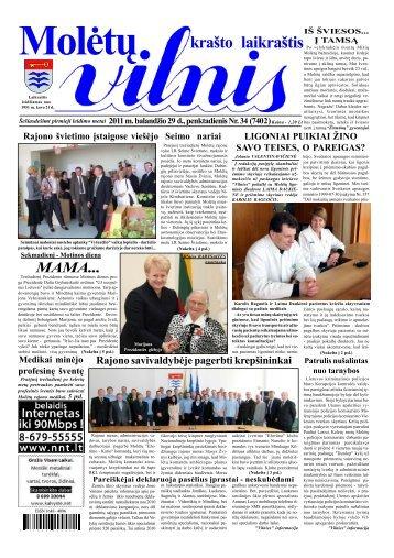 2011 m. balandžio 29 d., penktadienis Nr.34 - VILNIS