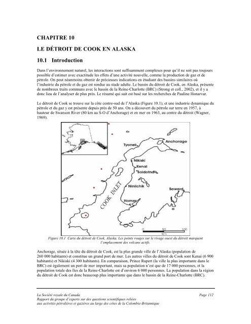 CHAPITRE 10 LE DÉTROIT DE COOK EN ALASKA 10.1 Introduction