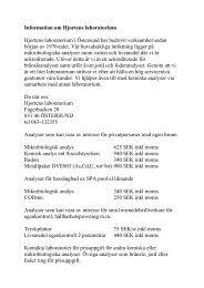 Information om Hjortens laboratorium - Sundsvall