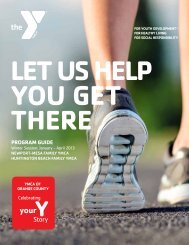NEW! Winter 2013 Program Guide - YMCA of Orange County