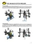 PROGRAMMABLE UNI-BUG III StItch WELdER - Rapid Welding and ... - Page 3