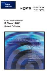 IP Phone 1140E Guide de l'utilisateur - Groupe Pagex