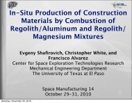 In-Situ Production of Construction Materials by Combustion of ...