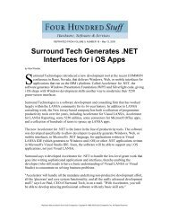 Surround Tech Generates .NET Interfaces for i OS Apps