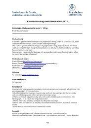 Kursbeskrivning med litteraturlista 2012 - Institutionen för franska ...