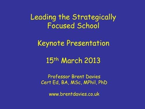 Strategic thinking - Avs