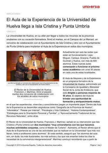 El Aula de la Experiencia de la Universidad de ... - Noticias Universia